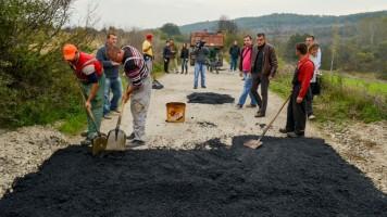 Радови на путу Вратарница - Заграђе - Мариновац