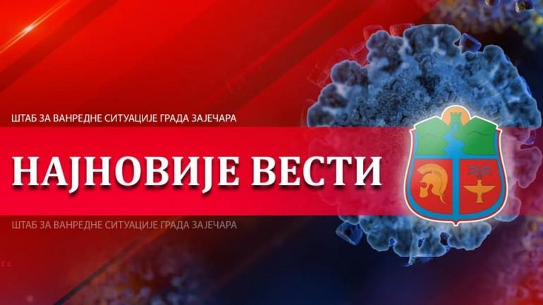 У Зајечару још 7 позитивних лица на корона вирус: Вакцинисано 3 000 грађана