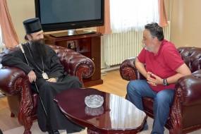 Његово Преосвештенство Епископ тимочки Иларион на пријему у Градској управи у Зајечару