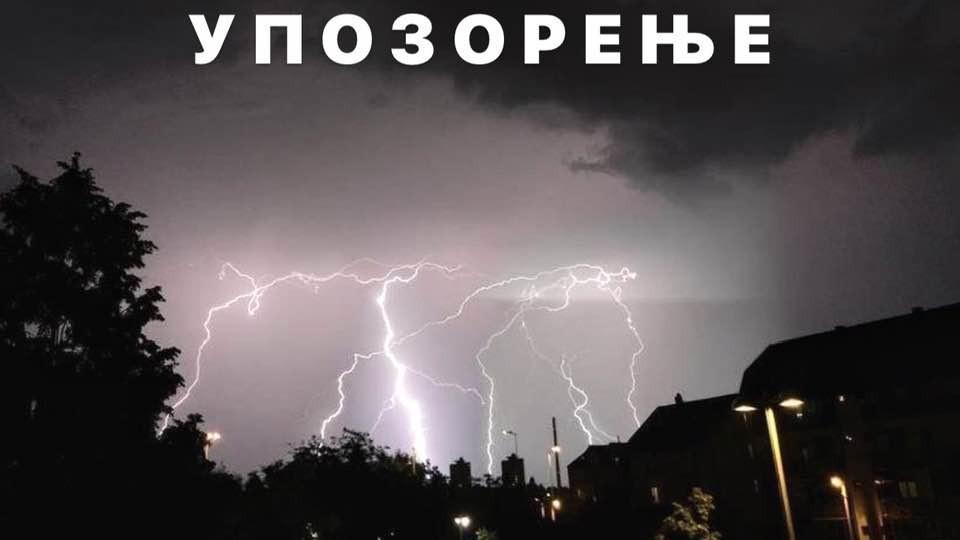 ОБАВЕШТЕЊЕ РХМЗ СРБИЈЕ: Прогнозиране временске непогоде на територији Зајечара