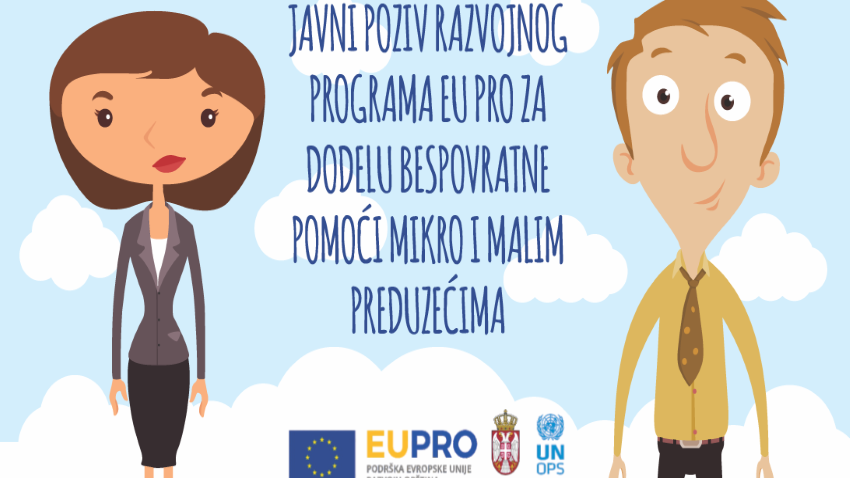 Јавни позив развојног програма ЕУ ПРО за доделу бесповратних средстава микро и малим предузећима