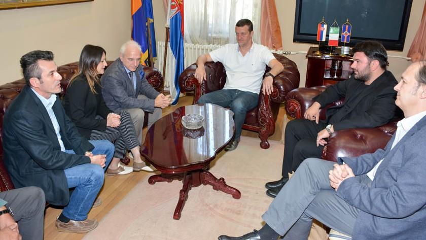 Директор Италијанског института за културу на пријему у Градској управи у Зајечару