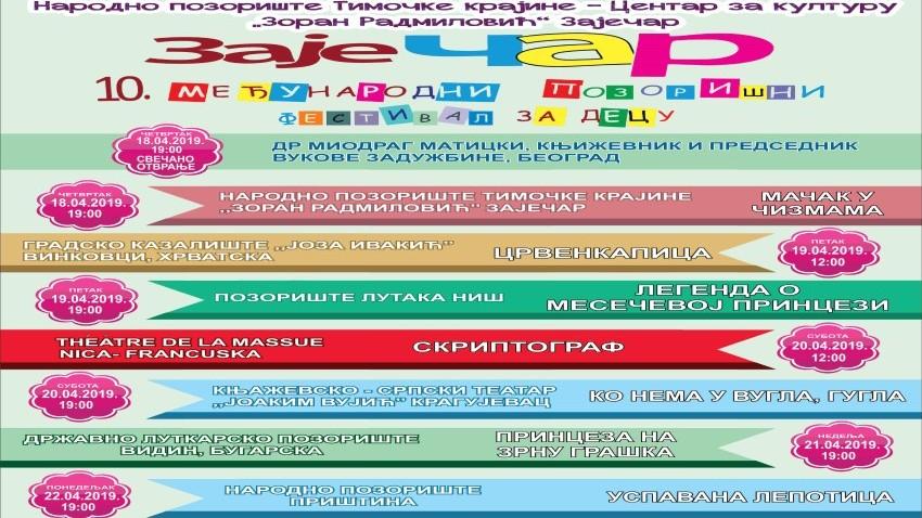 """Међународни позоришни фестивал за децу """"ЗајеЧАР"""" отвара се 18.априла!"""